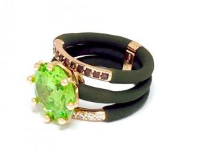 Modern Ring Le Corone, MAGNUM LUXURY green- Online Store Hermossa.eu