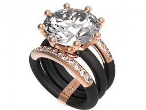 Modern Ring Le Corone, MAGNUM LUXURY white- Online Store Hermossa.eu