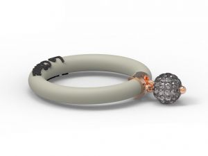 Fashion Ring Le Corone BOLLICINE grey- Hermossa.eu Online Shop