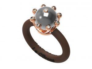 Women's Rings Le Corone, PEARL Classic grey Online Store Hermossa.eu