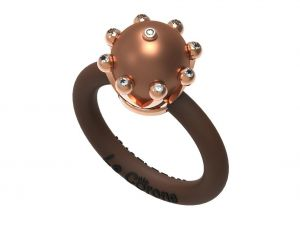 Women's Rings Le Corone, PEARL Classic chocolate Online Store Hermossa.eu