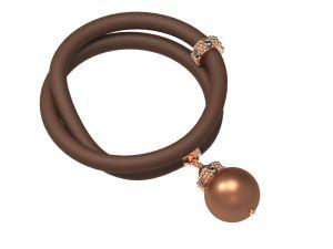 Bracelet Le Corone Pearl (chocolate)