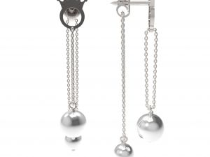 Earrings Pearl Bis (white)
