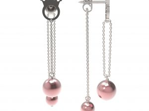 Earrings Pearl Bis (pink)