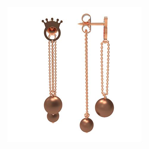 Earrings Le Corone Pearl Bis (chocolate)