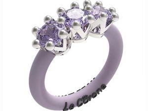 Women's Rings Le Corone, TRILOGY, lila Online Store Hermossa.eu