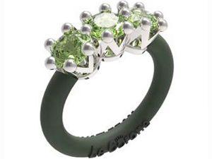 Women's Rings Le Corone, TRILOGY, green Online Store Hermossa.eu