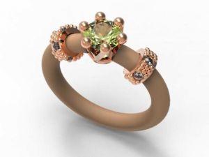 Ring Le Corone MINI green, rose