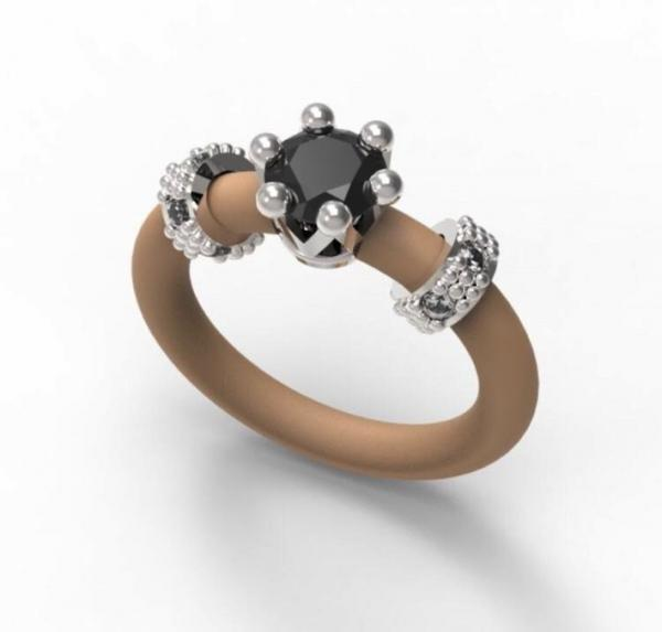 Women's Ring Le Corone MINI black