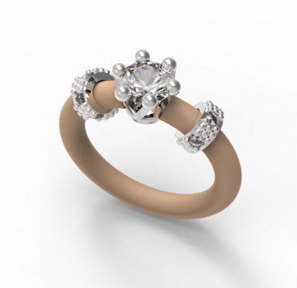 Women's Ring Le Corone MINI white