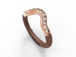 Women's Fashionable Embrace ring white - Online Shop Hermossa.eu