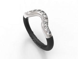 Women's Fashionable EMBRACE ring white- Online Shop Hermossa.eu