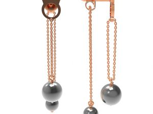 Earrings Le Corone Pearl Bis (grey)