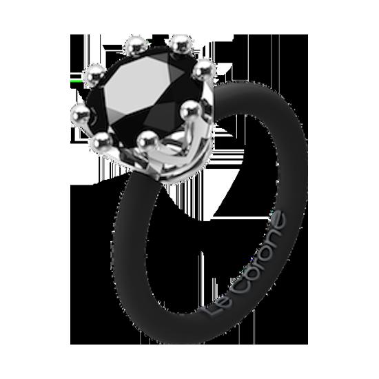 Women's Fashion Le Corone ring CLASSIC black- Online Shop Hermossa.eu