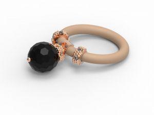 Women's Le Corone ONYX ring black