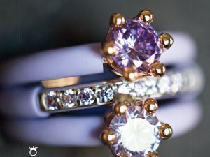 Fashion Women's Rings Le Corone, INTRIGO, lilac - Online store
